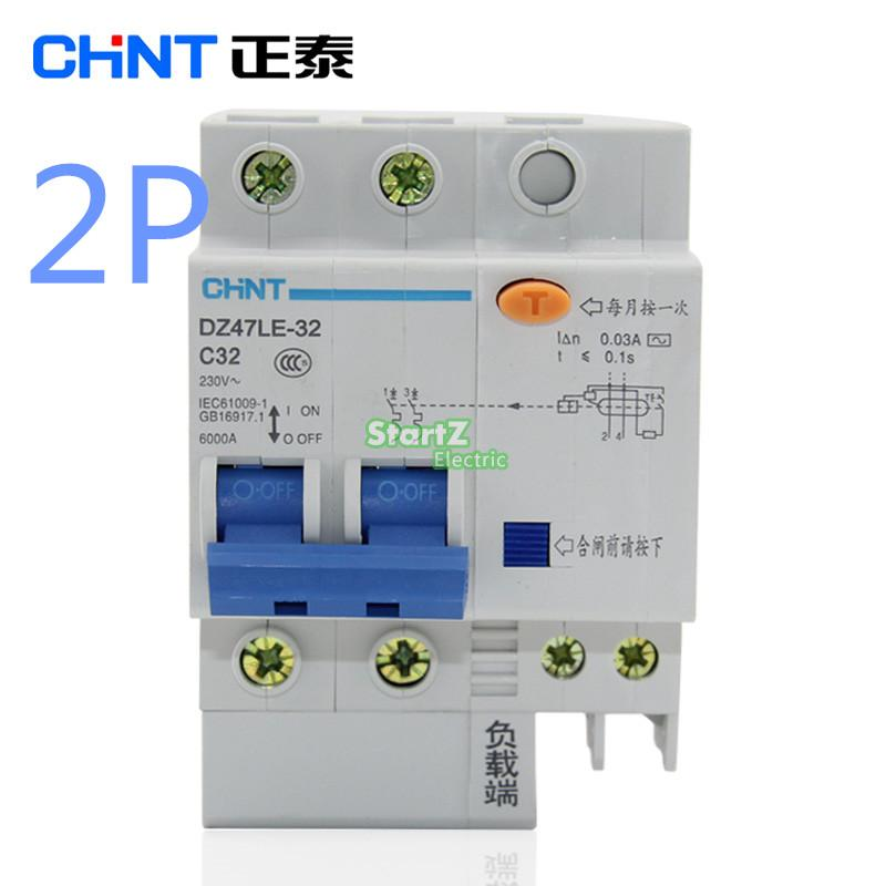 все цены на CHNT DZ47LE 2P 10A 16A 20A 25A 32A 40A 50A 60A Residual current Circuit breaker RCBO онлайн