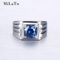 Milatu blue cubic zirconia wedding bands stainless steel men engagement statement ring bijoux high quality r386g.jpg 250x250