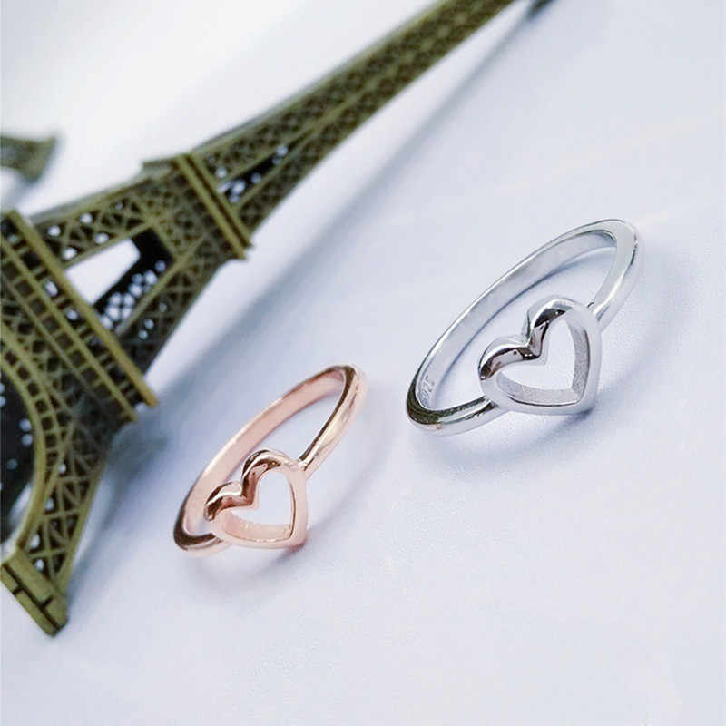 Modyle 2020 חדש אופנה עלה זהב צבע לב בצורת חתונה טבעת לאישה Dropshipping