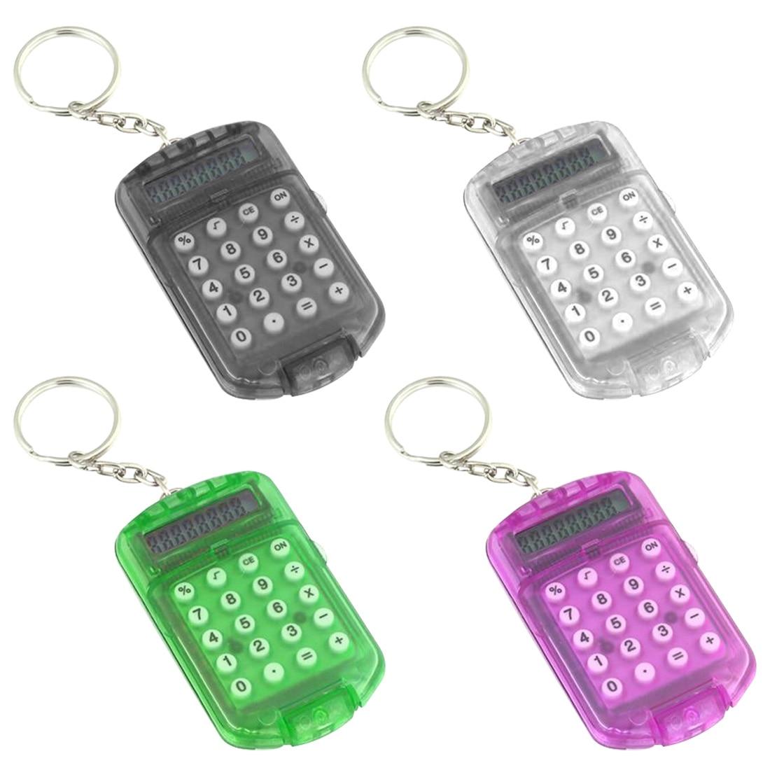 100% Wahr Etmakit Neueste Grau Hartplastik Gehäuse 8 Ziffern Elektronische Mini Rechner Mit Keychain Zufällige Farbe Ein Kunststoffkoffer Ist FüR Die Sichere Lagerung Kompartimentiert