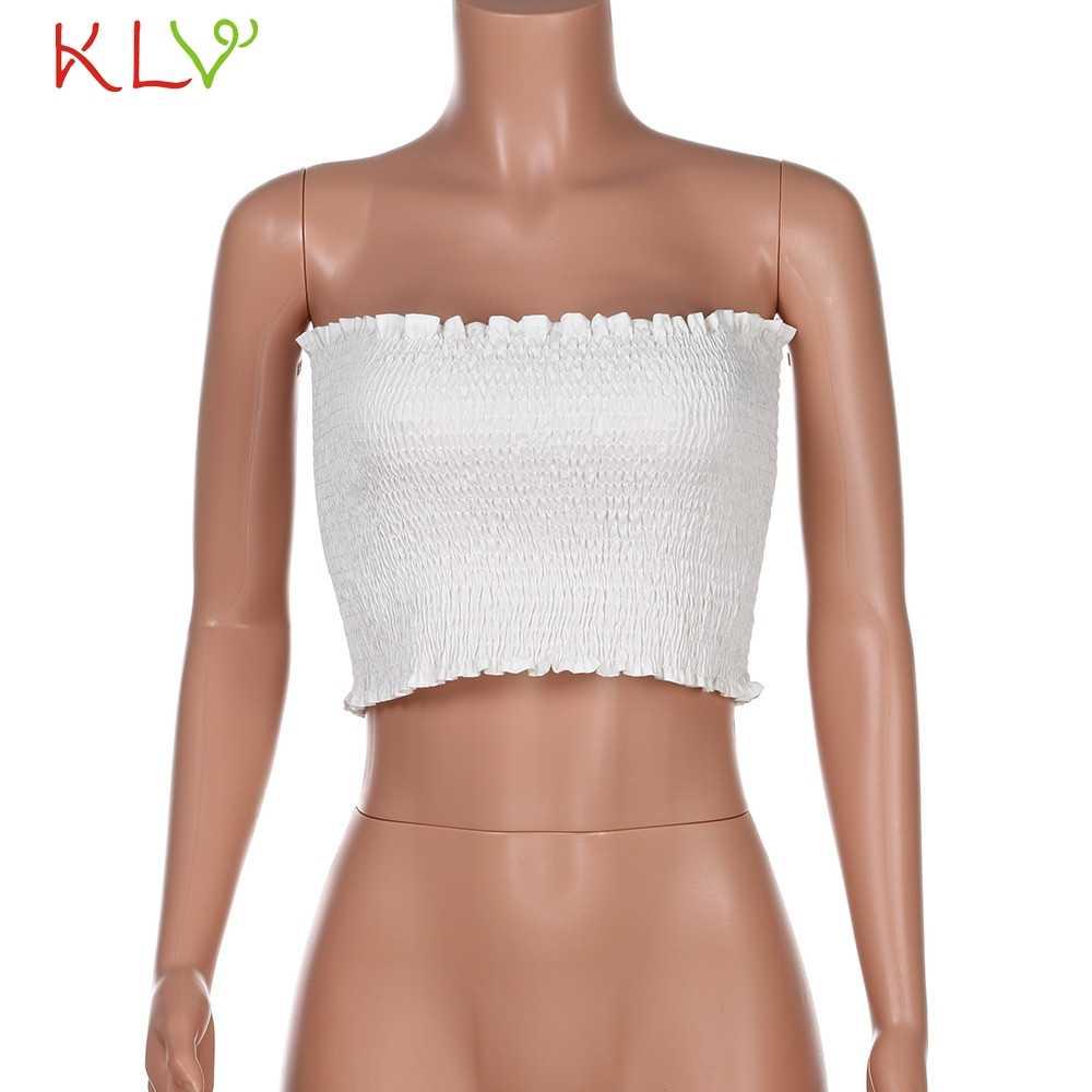 2018 ผู้หญิง Crop Tops ที่ไม่มีสายหนัง blusas Boob Bandeau Tube Tops Bra ชุดชั้นในเต้านม Wrap Tank bras ชุดชั้นในใหม่