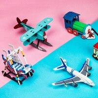 Creative 24 סגנונות DIY שרבוט צבע סט מודל פאזל חינוך למידת צעצועים לילדים מתנות