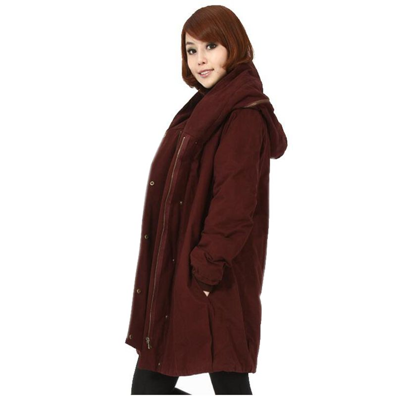 2017 Latest Winter Fashion Women Parkas Hooded Thick Super warm Medium-long Coat Casual Loose Big yards Long-sleeved Coat NZ274 2017 latest winter fashion women down jacket hooded thick super warm medium long coat long sleeve loose big yards parkas nz263