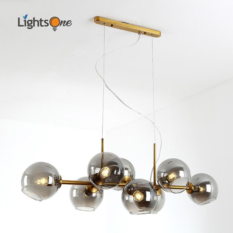 Nordic restaurant pendant lamps post modern molecular magic bean light creative personality hotel bar pendant lights