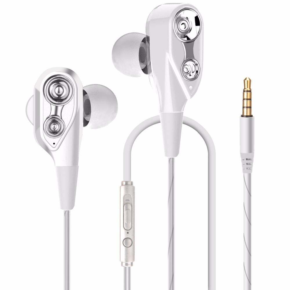 AIPAL Professional In-Ear Earphone Metal Heavy Bass Sound Quality Music ired Earphone Dual Drive High-End Brand Wired Headset