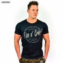 In the summer of 2017 in crime brand clothing fashion fitness T-shirt your muscle male thin cotton tee dress with short sleeves