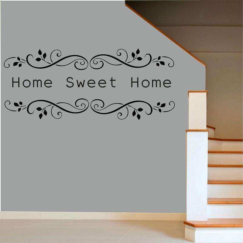 Foto Sticker Muur.Us 5 98 25 Off Home Sweet Home Muur Citaat Sticker Muur Art Sticker Art Decor Verwijderbare Vinyl Muursticker Interieur Woonkamer A687 In