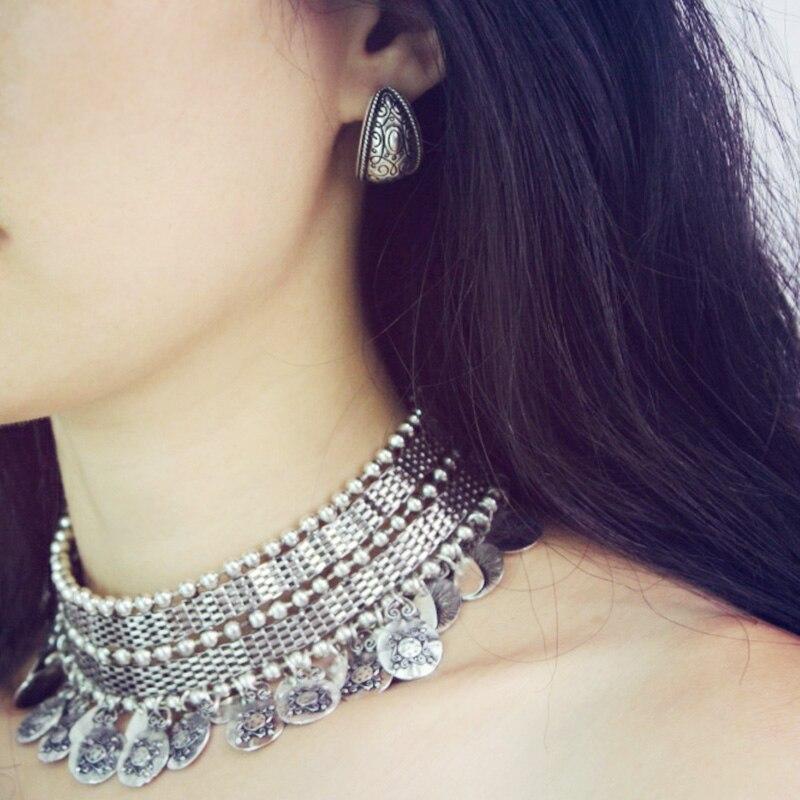Tibetan coin statement tassel necklace Boho//hippy//gypsy//vintage//antique