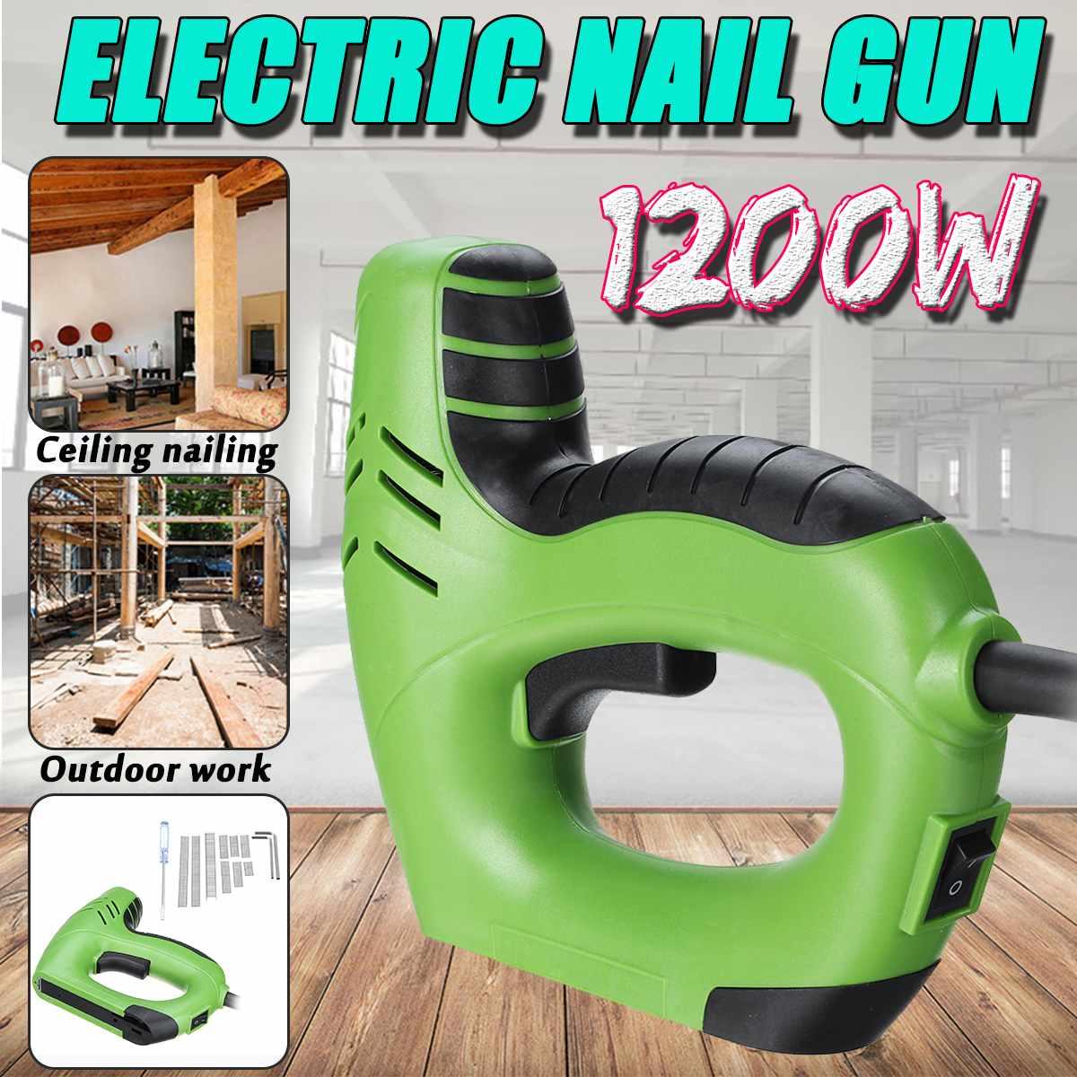 Drillpro Electric Staple-Gun Straight Nail 10-14mm/Code Nails 6-14mm Dual Use Wood Working Nail Guns