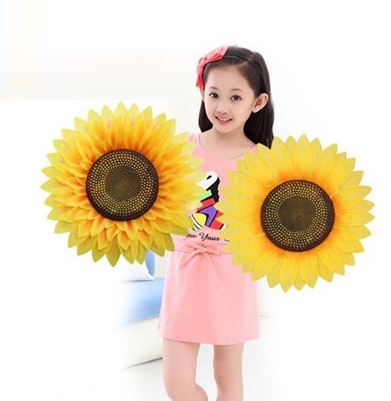 Stor størrelse kunstig silke solsikke gul polyester blomst til Home - Fest utstyr - Bilde 4