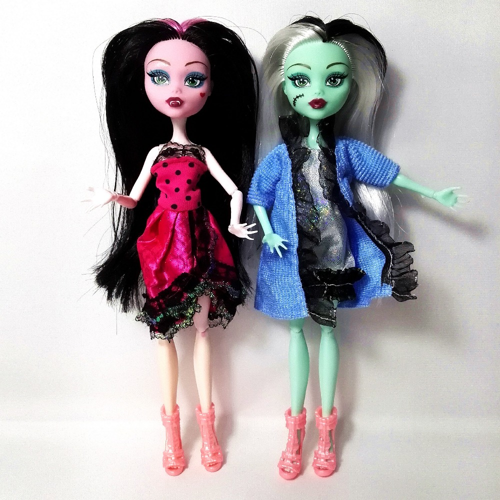 4st / lot Ny stil Hight Dolls Draculaura Fun Hight Flyttbar Gemensam, - Dockor och gosedjur - Foto 6