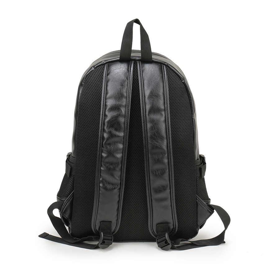 VORMOR Marca Homens Mochila de Couro Mochila Escolar Saco de Livro de Couro da Moda À Prova D' Água Saco de Viagem Ocasional saco Masculino
