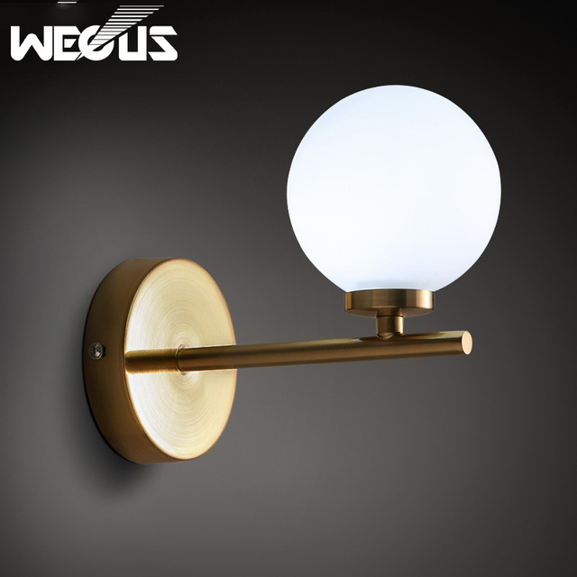 Retro Lamp Cover Exterial Up  Reglable Frosted Glass Lamp Sconce Wall Lights  Living Room Bedroom Bathroom Lighting
