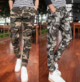 Men's Fashion Camouflage Cargo Casual Pants Slim Fit Combats Military Tactical skinny Cotton100% 2015 New Wholesale & Retail