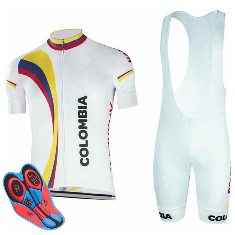2018 COLOMBIA Short Sleeve Pro Cycling Clothing Bicycle Clothes Maillot Ropa  Ciclista Bike Sportswear Ciclismo Cycling Jersey 25d78e798