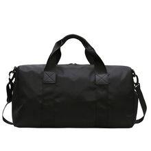 Мужская водонепроницаемая дорожная сумка Оксфорд черная Повседневная