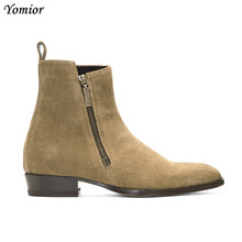 Chelsea Boots Cow Leather British Style Fashion Casual High Quality Men Ankle Boots 2018 New Business Travel Wedding Men Boots heinrich spring autumn classical leather chelsea boots for men fashion ankle high boots men s business shoes bottine homme