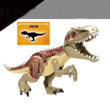Single sales large Jurassic Dinosaur world Figures Tyrannosaurs Rex Building Blocks Compatible With Legoings Toys