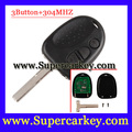Frete Grátis (1 pcs) excelente Qualidade chave Remota 304 mhz 2 botão HU43 lâmina Apto Para chave Chevrolet Lumina Holden COMMODORE