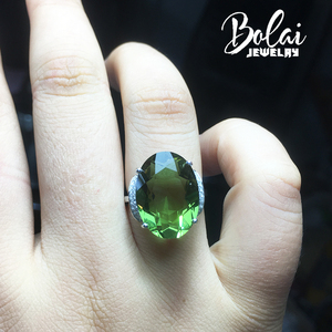 Image 3 - Bolaijewelry,Zultanite rings 925 sterling sliver created Color Change gemstone oval 13*18mm 12.1ct elegant design birthday gift