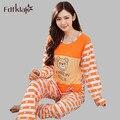 Мультфильм животных костюм пижамы плюс размер длинным рукавом осень зима пижамы девушки пижамы набор pijamas костюм для женщин