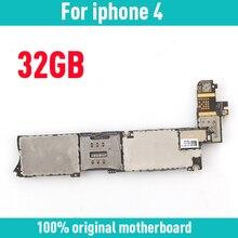 Оригинальная разблокированная материнская плата для iphone 4 с системой IOS, 32 ГБ для iphone 4 4G логические платы с полным чипом