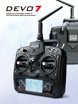 Walkera Devo 7 Transmitter Devention 7 Radio with receiver RX701 FreeTrack Shipping