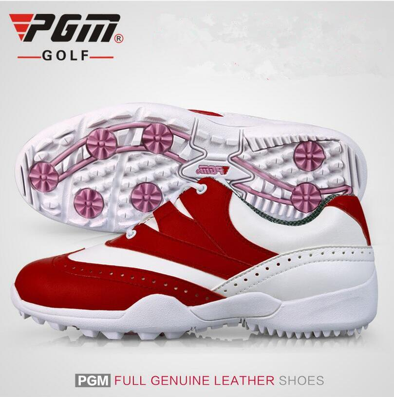 PGM 2017 new lady golf shoes woman outdoor sports waterproof anti-skid golf Sneakers ultra-light design red golf shoes pgm new golf standard club tug ball bag environmental travel sport wheel package ultra light portable anti skid handle bag pu