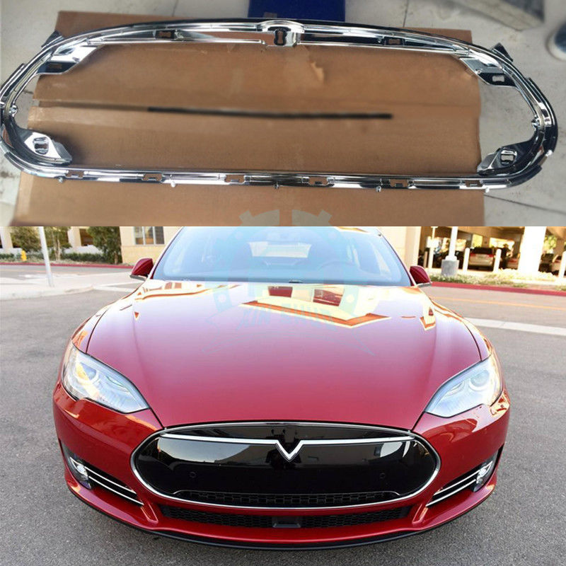 2018 Tesla Model S Camshaft: ABS Chromed Car Bumper Grille Grill Decorative Frame For