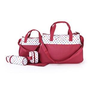 Image 5 - MOTOHOOD 5 adet bebek bebek bezi çantaları anne için değişen Nappy çanta setleri anne bebek bakım arabası bebek çantası organizatör 30*43*14cm