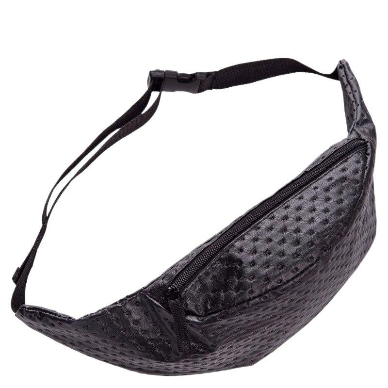 LJL Dot Leather Belt Bag PU Fanny Pack For Women Waist Bag Pouch Bag(Black)