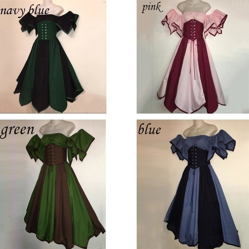 Middle ages Europe court dance queen dress Medieval costume hallowmas Costume Cosplay Lolita Dresses  party