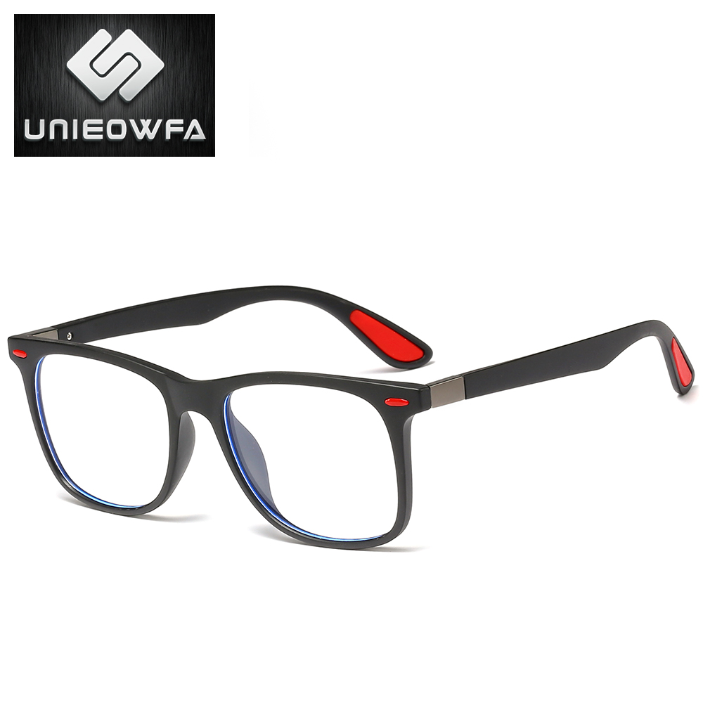 Image 4 - UNIEOWFA Retro Clear Glasses Frame Men Women Optical Myopia Eyewear Frame Transparent Spectacles TR90 Prescription EyeglassesMens Eyewear Frames   -