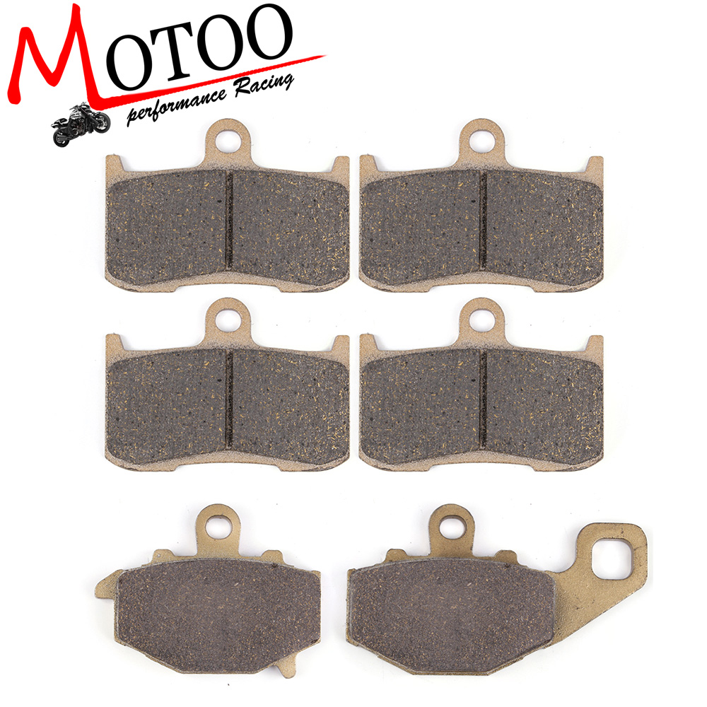 Motoo - Motorcycle Front and Rear Brake Pads For KAWASAKI Z1000 ZR1000A  2003-2006 motoo motorcycle front and rear brake pads for honda xrv750 africa twin 1994 2003