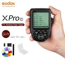 Godox XPro C פלאש טריגר משדר עם E TTL השני 2.4 גרם אלחוטי X מערכת HSS LCD מסך עבור Canon DSLR מצלמה