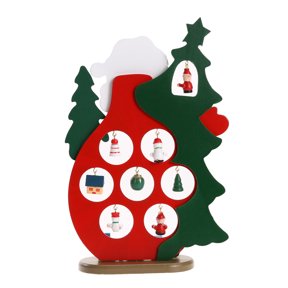 Christmas Gift Wooden Christmas Tree Home Decoration Xmas Tree Top ...