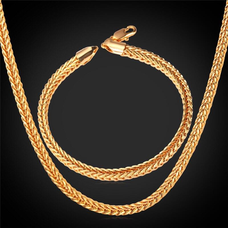 Collare Ethiopian Jewelry Men Dubai Gold Color Jewelry Set Hiphop ...