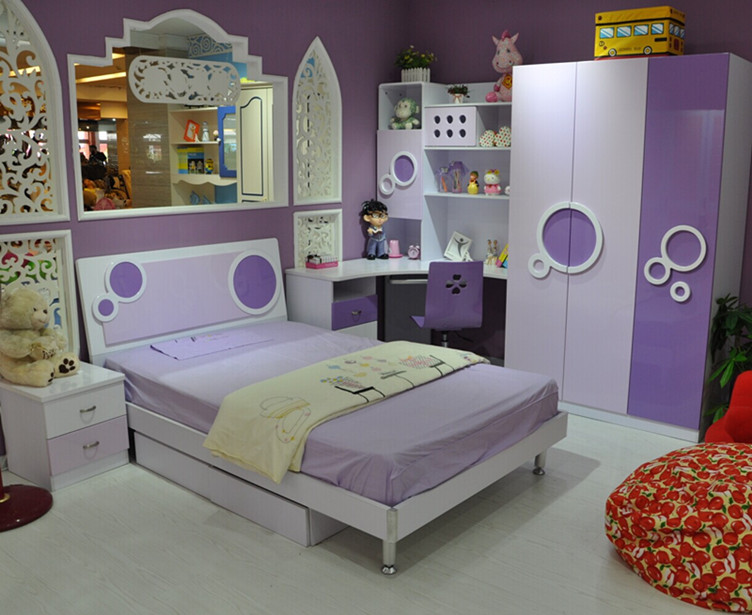 Boys and girls children\'s furniture suite bedroom suite ...