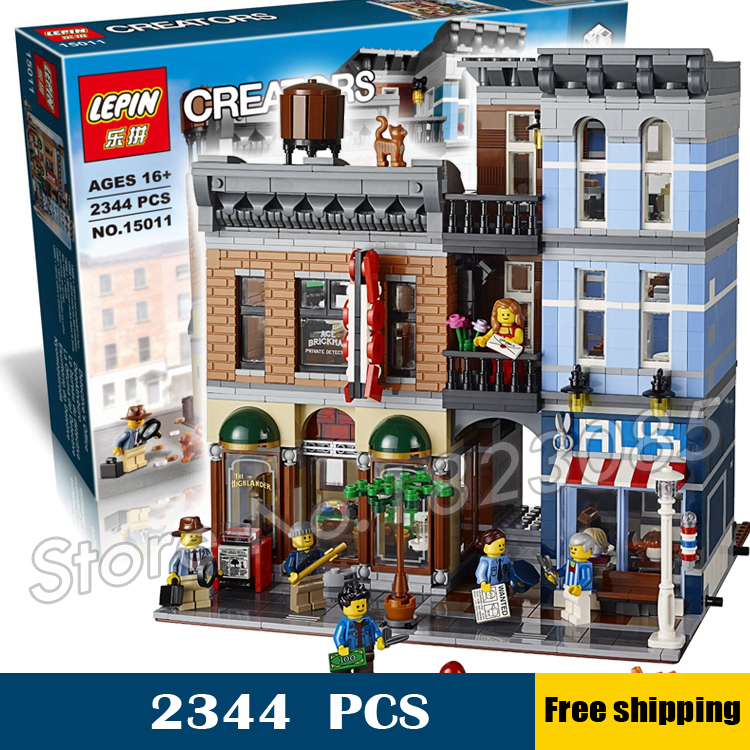 2344pcs 15011 Creator Expert Detective's Office Building Kit 3D Model Blocks Toys Bricks Compatible with Lego lightaling led light set compatible with brand camping van 10220 building model creator decorate kit blocks toys
