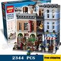 Edificio de oficinas de 2344 unids 15011 creador experto detective kit modelo 3d juguetes de bloques de ladrillos compatible con lego