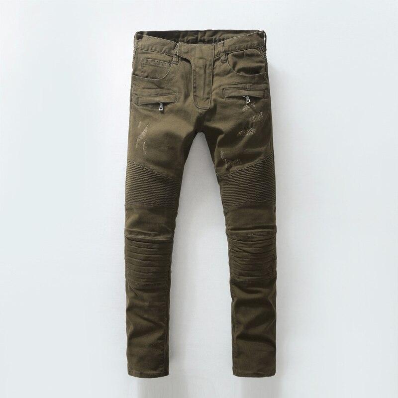 ФОТО Jeans Men Fashion Biker Slim Jeans Famous Paris Designer Brand Skinny jeans. Size 28-38
