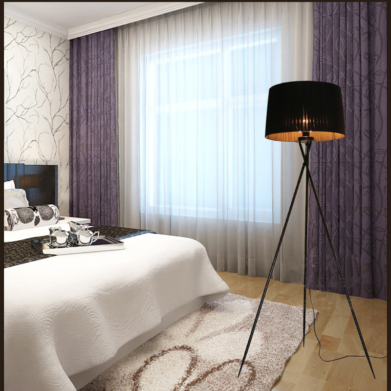 Nouveau moderne minimaliste 3 jambe trépied lampadaire tissu abat-jour créatif lampadaire pour salon se dresse lampes FL8 - 5