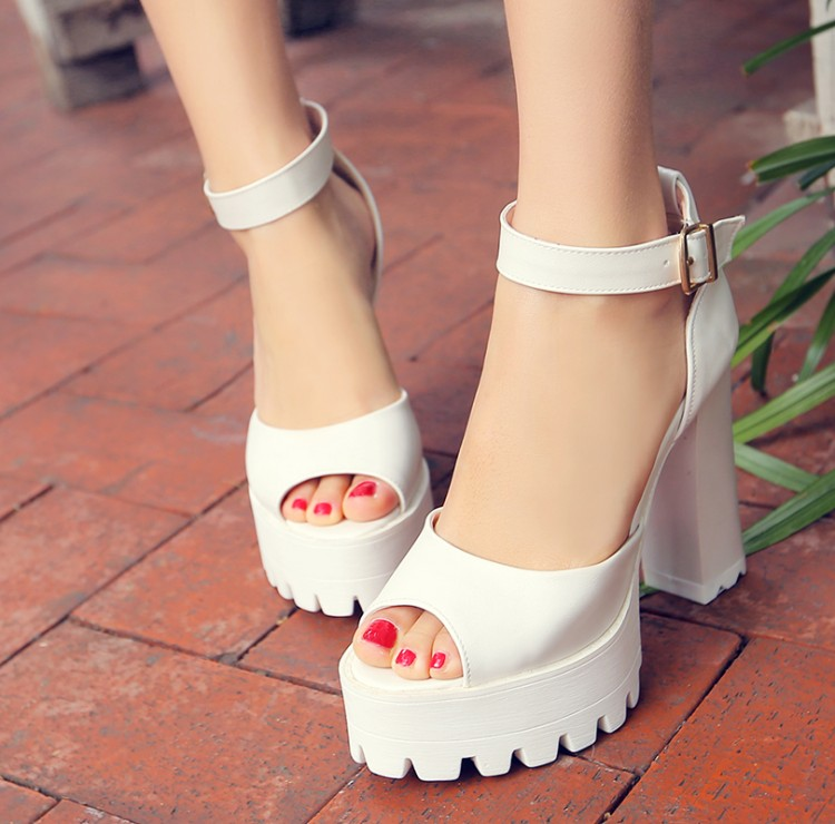 ФОТО Big Size 34- 43 Sandals  Ladies Platforms lady Fashion Dress Shoes Sexy High Heel Shoes Women Pumps  185
