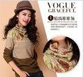 Новый дизайн осенью и зимой цветы печати элегантный пуловер леди вязаный свитер