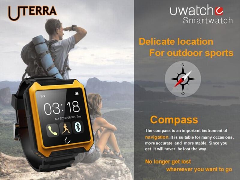 Waterproof Bluetooth Smart Watch Uterra Compass Pedometer,Sleep Monitoring Burglar Alarm for Android Mobile Watch