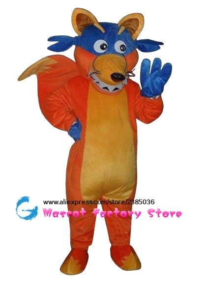 explorer fox fox adult costume swiper fox mascot costume plush cartoon role playing clothing free shipping - Swiper Halloween Costume