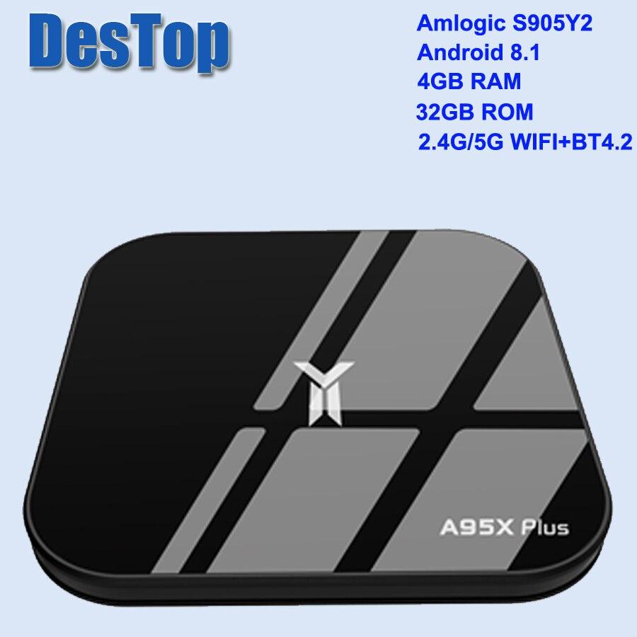 New A95X Plus TV Box 4GB Amlogic S905 Y2 Android 8 1 4GB DDR4 32GB ROM