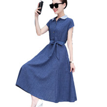 summer wear new casual women solid dress with short sleeve long dresses with belt design lady vestido clothes size S-3XL SALE casual women s satchel with zips and solid color design
