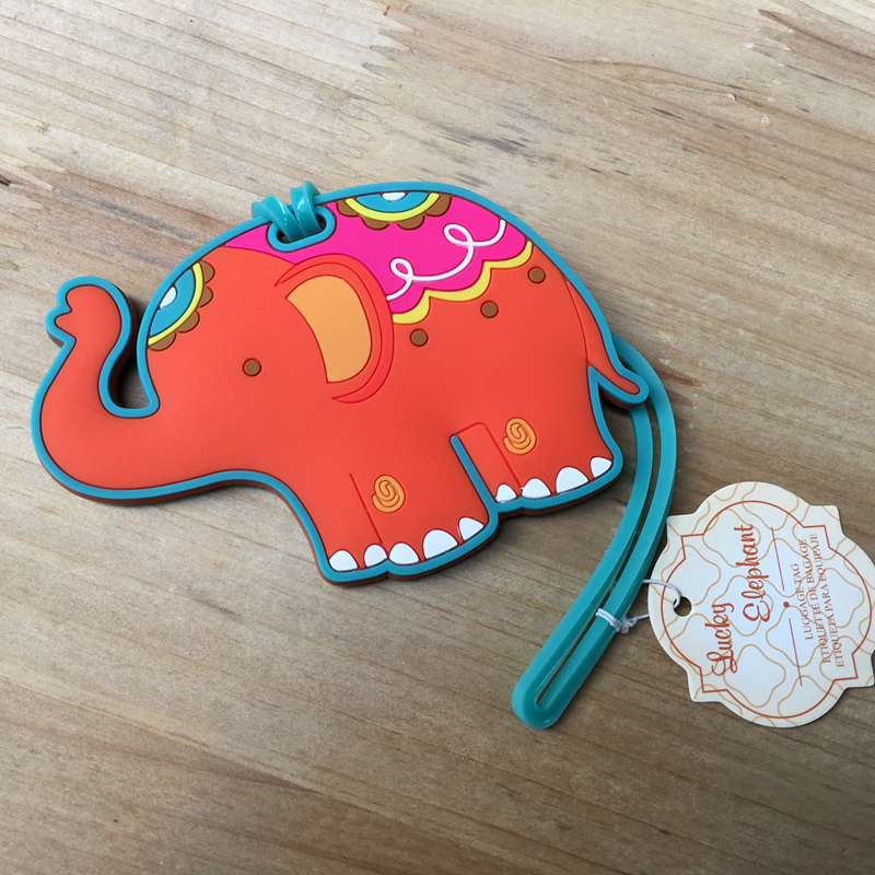 50pcs/lot New Arrival Fast Delivery Wedding Favor Lucky Elephant Luggage Tag Airline Luggage Creative Gifts Baby Shower