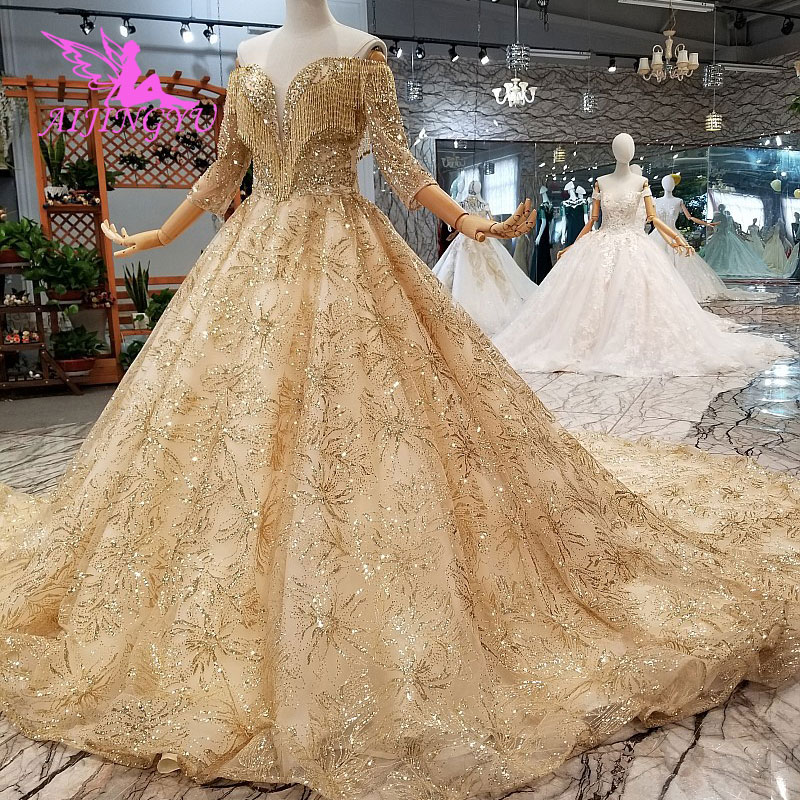 Weddings & Events Aijingyu China Custom Made Wedding Dress Gown Affordables Bridal With Cape Shanghai Dresses Wedding Bride Gowns Pure White And Translucent